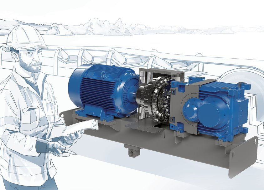 MAXXDRIVE® XT industrial gear units – Powerful drive for powerful conveyor belts