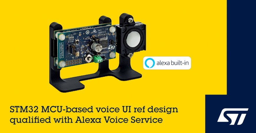 STMicroelectronics Simplifies Creation of Alexa Built-In Smart Home Devices with Amazon-Qualified Reference Design